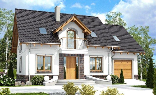 projekt Dom Dla Ciebie 5 z garażem 1-st. A2